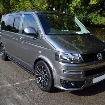 Volkswagen Transporter Black Chrome Front Angled