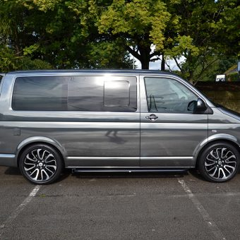 Volkswagen Transporter Black Chrome Side