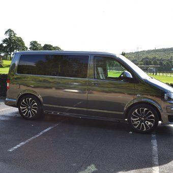 Volkswagen Transporter Black Chrome Side Green