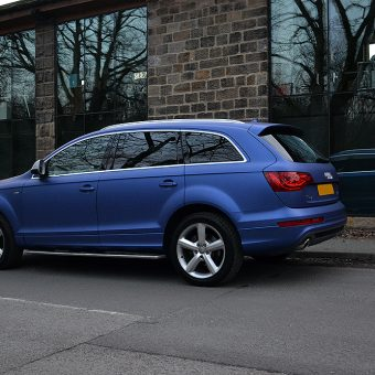 Audi Q7 Colour Change Wrap Leeds Angled