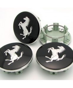 Ferrari 458 Gloss Black Center Caps