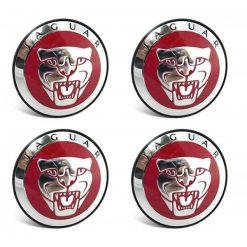 Jaguar F-Type Red Center Caps