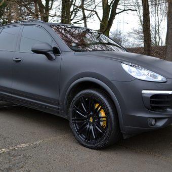 Porsche Cayenne Matte Black Front