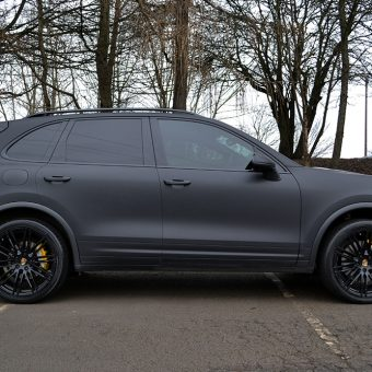 Porsche Cayenne Matte Black Side