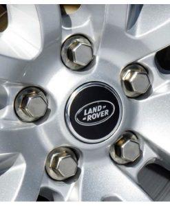 Range Rover Sport Black Center Caps Fitted