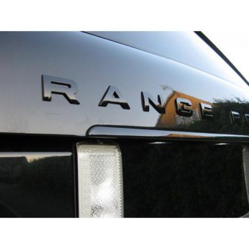 Range Rover Sport Gloss Black Bonnet Badges Fitted