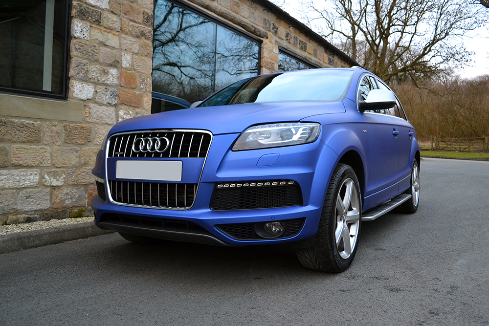 Audi Q7 Wrapped In Matte Brilliant Blue Reforma Uk
