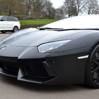 Lamborghini Aventador Satin Black 1380 Front SVR