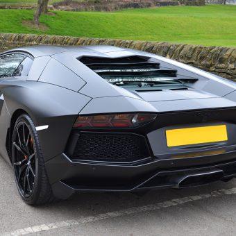 Lamborghini Aventador Satin Rear Stance