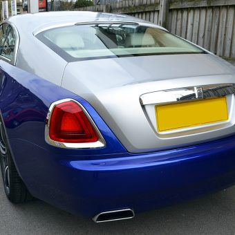 Rolls Royce Wraith Wrapped Rear