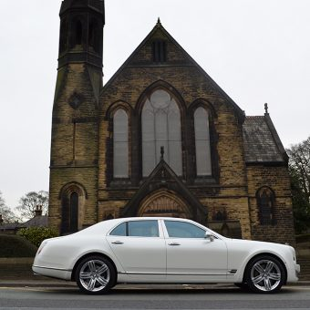 Bentley Mulsanne Pearl White Wrapped Reforma