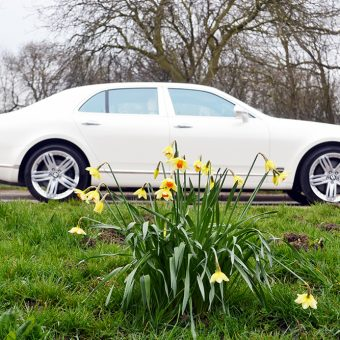 Bentley Mulsanne Wrapped Pearl White