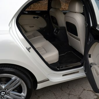 Bentley Mulsanne Wrapped Pearl White Door Insert