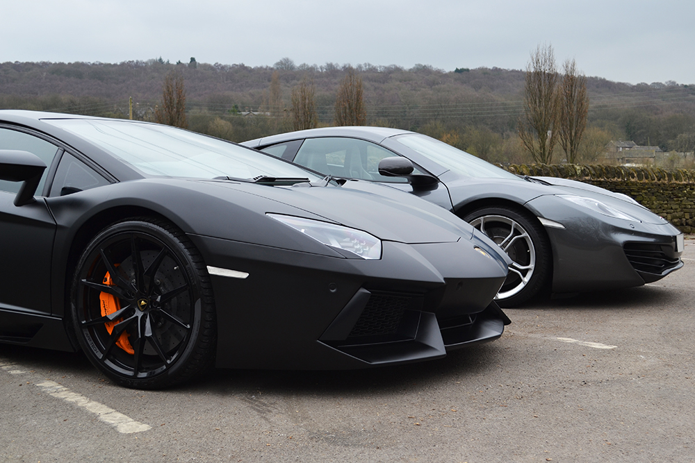 Lamborghini Aventador Wrapped In Satin Black Reforma Uk