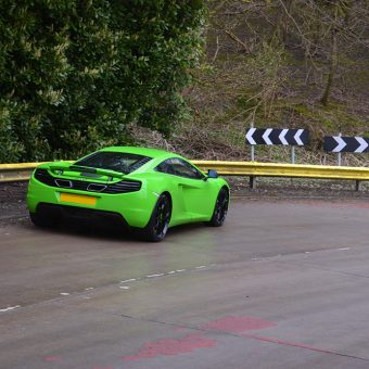 McLaren MP4 12C Wrapped Lime Green Driving