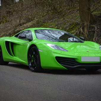 McLaren MP4 12C Wrapped Lime Green Yorkshire
