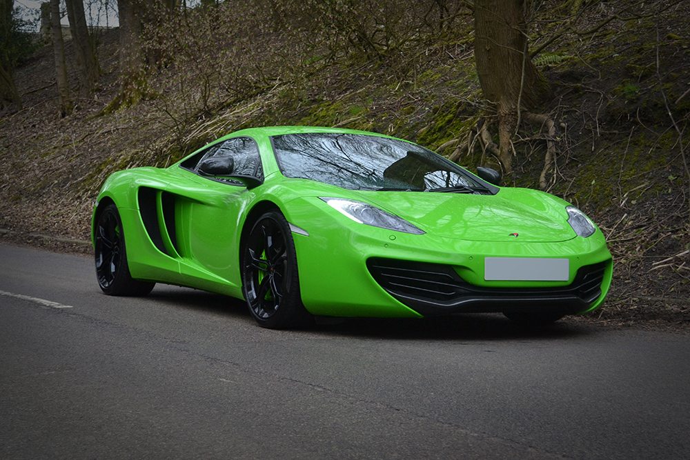 Lime Green Wrapped Mclaren Mp4 12c Reforma Uk