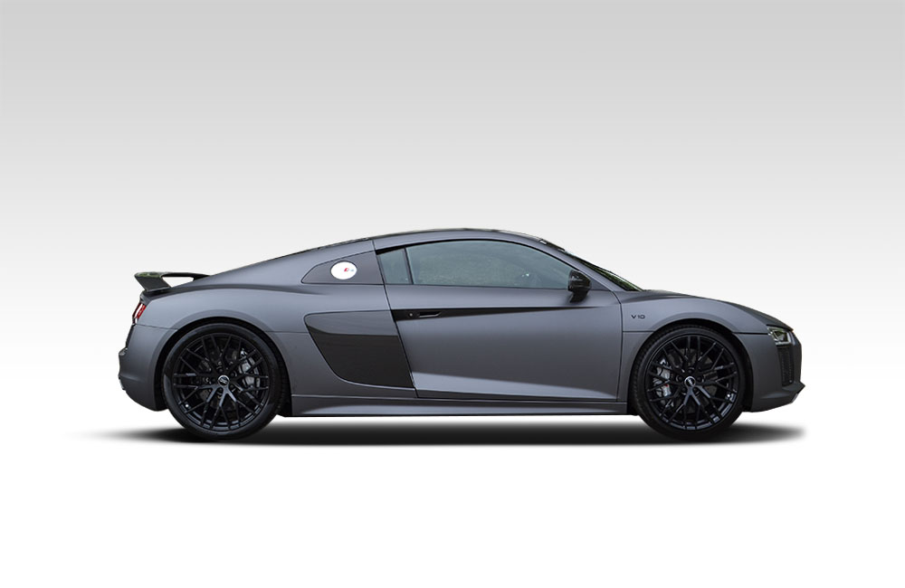 After-2016 Audi R8 Matte Dark Grey Wrap