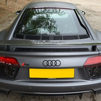 Audi R8 Matte Grey Wrap Rear