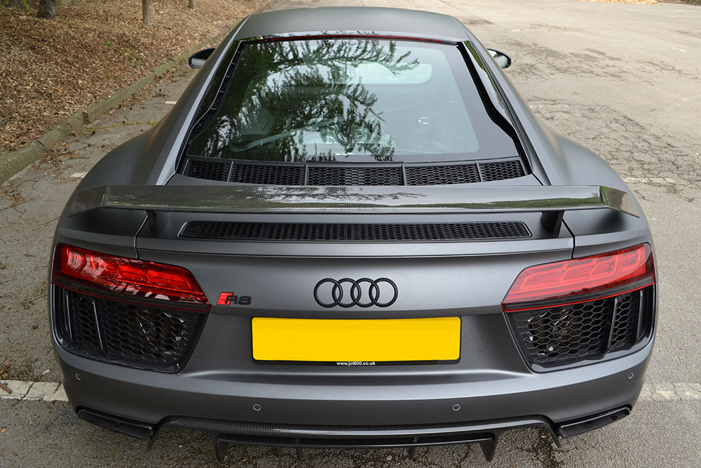 2016 Audi R8 Matte Dark Grey Wrap - Reforma UK