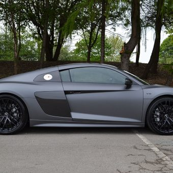 Audi R8 Wrapped Matte Dark Grey Side