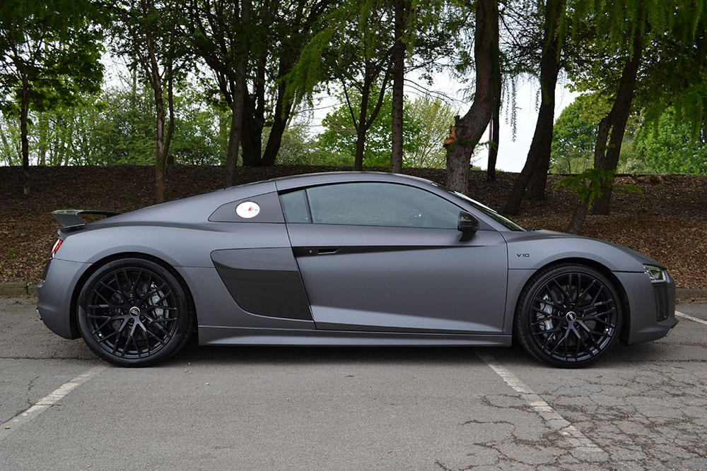 2016 Audi R8 Matte Dark Grey Wrap Reforma Uk