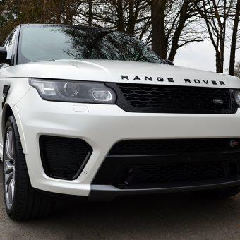 Range Rover Sport SVR Satin Pearl White Reforma