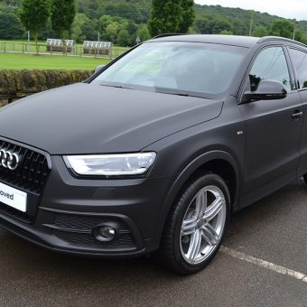 Audi Q3 Matte Black Wrap Front