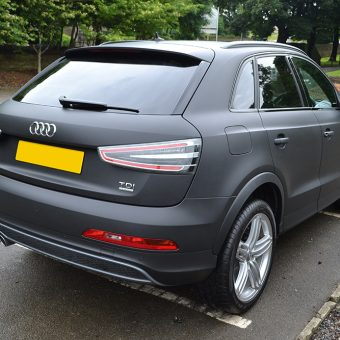 Audi Q3 Matte Black Wrap Rear