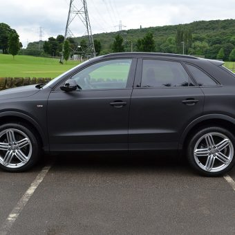 Audi Q3 Matte Black Wrap Side