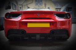 Ferrari 488 Black Chrome Rear
