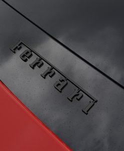 Ferrari 488 Black Chrome Rear Ferrari Badge