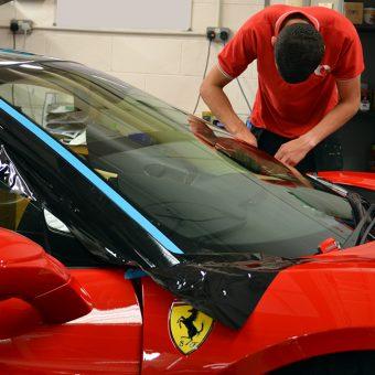 Ferrari 488 Front Pillar Wrapping