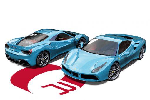 Ferrari 488 GTB Light Blue Wrap