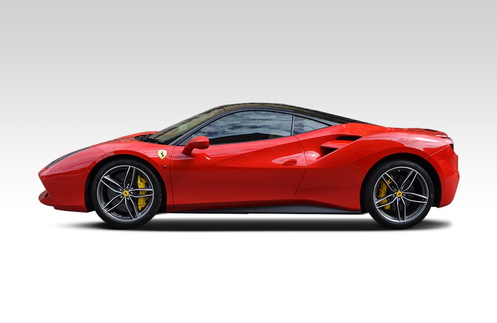 After-Ferrari 488 GTB Roof Wrap