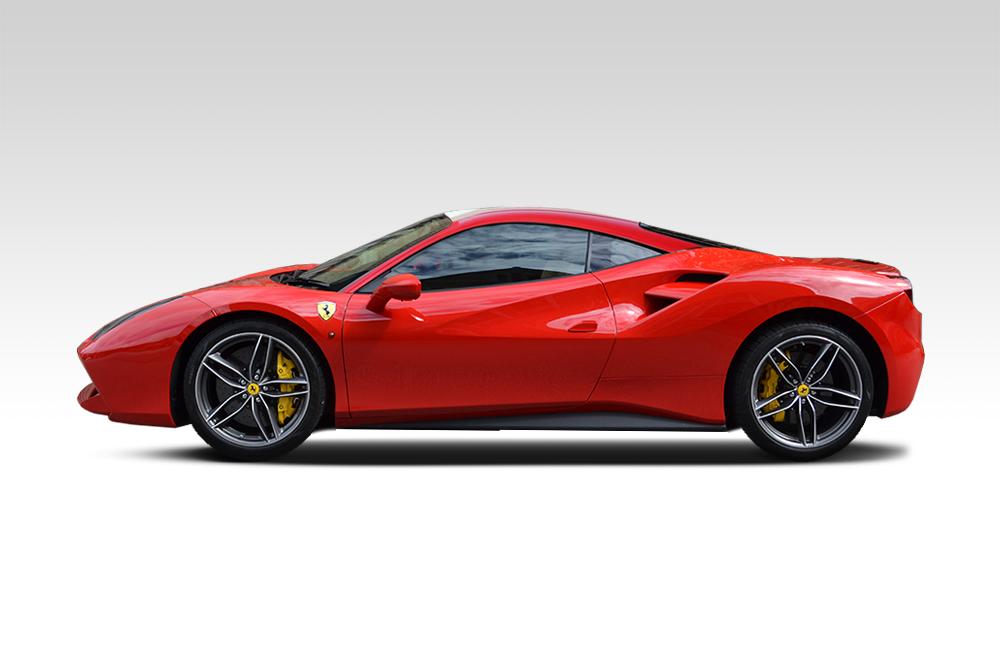 Before-Ferrari 488 GTB Roof Wrap