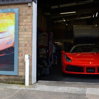 Ferrari 488 GTB Roof Wrap