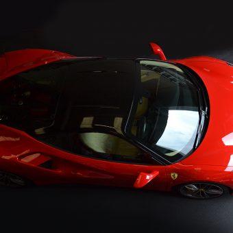Ferrari 488 GTB Roof Wrap Above View