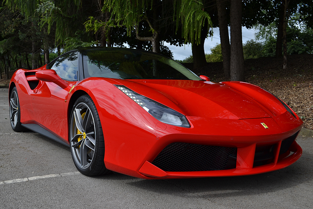 ferrari 488 gtb roof wrap front - Ferrari 488 Gtb Black