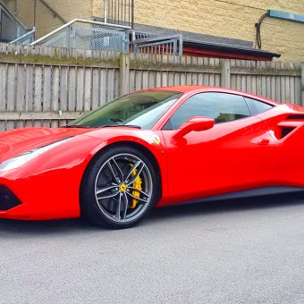 Ferrari 488 Roof Wrap Before