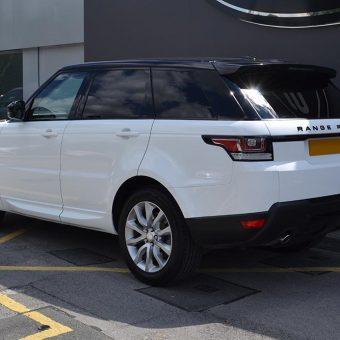 Range Rover Sport 3M 1380 Gloss White Rear