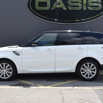 Range Rover Sport 3M 1380 Gloss White Wrapped Side