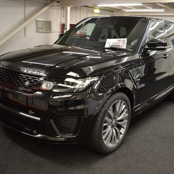 Range Rover Sport SVR Satin Black Before Wrap