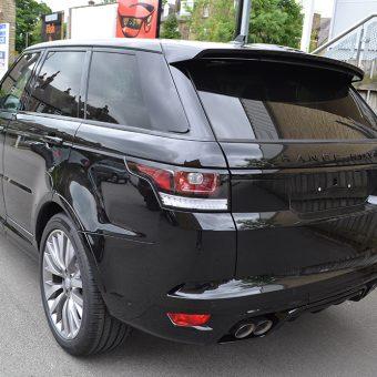 Range Rover Sport SVR Satin Black Before Wrap Rear