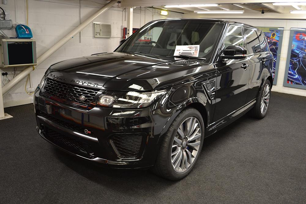 Stealthy Satin Black Range Rover Sport Svr Reforma Uk