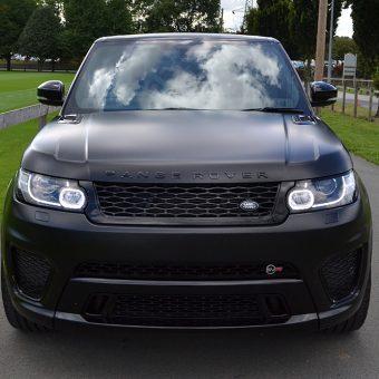 Range Rover Sport SVR Satin Black Wrap Front