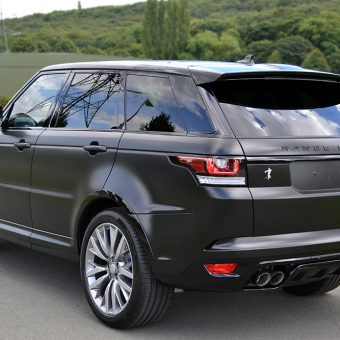 Range Rover Sport SVR Satin Black Wrap Rear