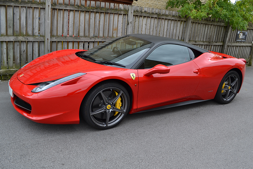 ferrari 458 carbon roof angled front