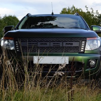 ford raptor wrapped urban jungle front