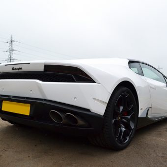 Lamborghini Huracan 3M 1380 Gloss White Rear View